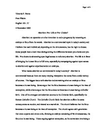 Abortion school essays